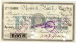 Cancelled Five Pound bank note No. J4499 signed by H St G Cobbold, issued 24th October 1904